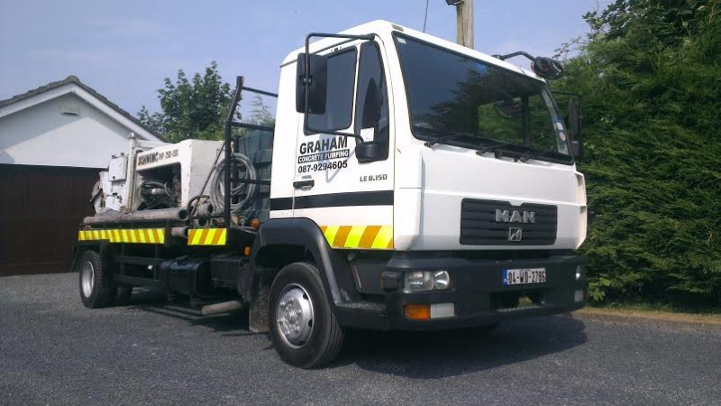 Graham Concrete Pumping is a family run business offering a cost effective way to pump your concrete - call 087 9294605 for a competitive quote throughout Dublin City, County Dublin, County  Kildare and all Ireland